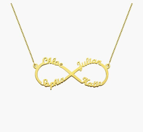 Customize infinity name necklace
